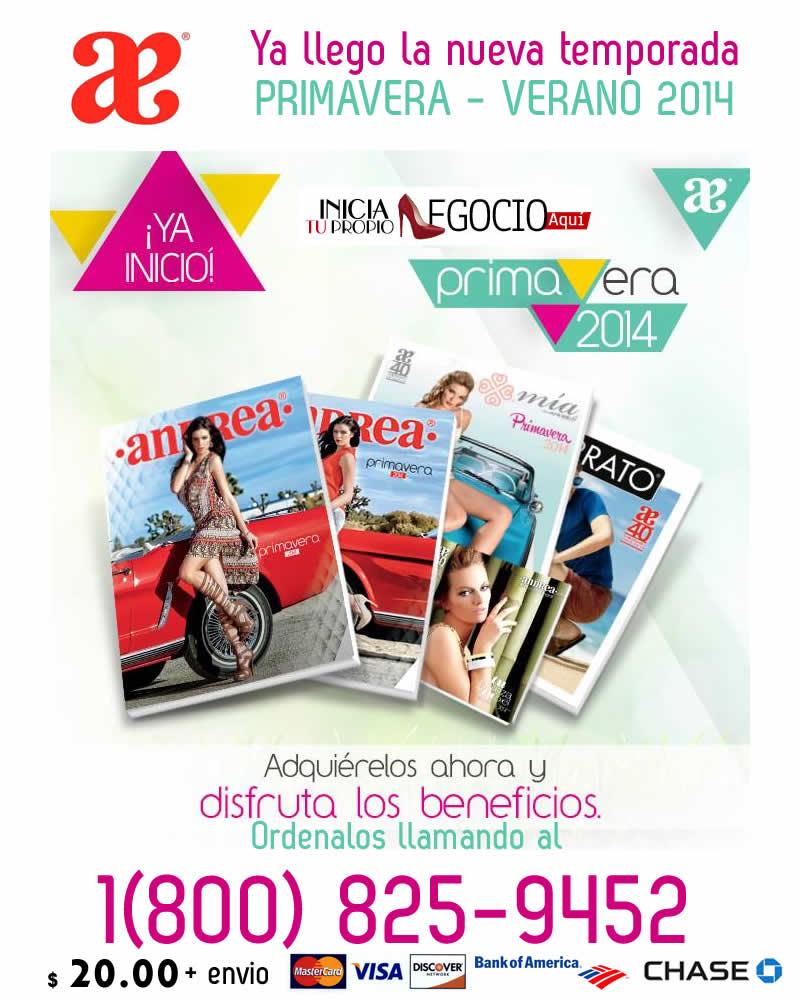 Catalogos Andrea Primavera 2014