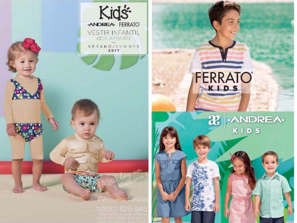 Catálogos Andrea Kids 2017: Moda Infantil Primavera Verano