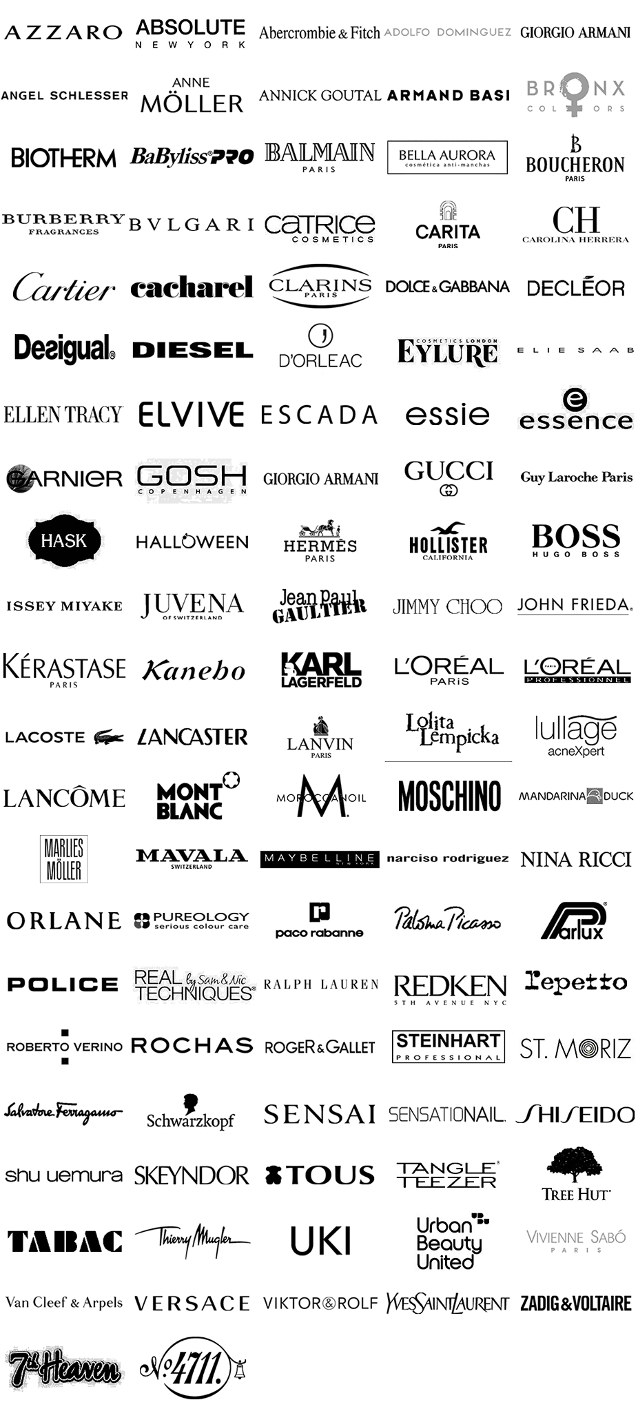 logos marcas perfumes premium new negro